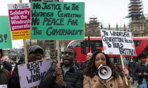 A protest in solidarity with the Windrush generation