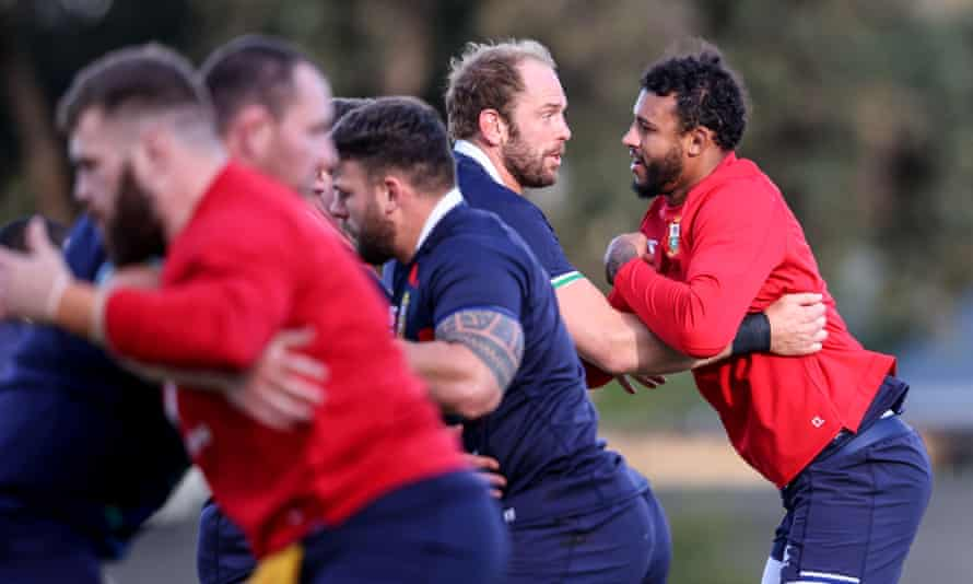 Alun Wyn Jones (second right) will captain the British & Irish Lions in the first Test on Saturday.