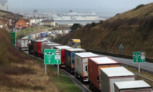 The port of Dover in Kent has been forced to stop lorry drivers from boarding ships to France.