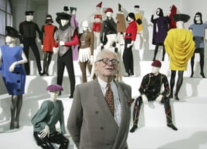 Cardin presents his exhibition Design and Fashion 1950-2005 at the academy for arts in Vienna, Austria, 2005
