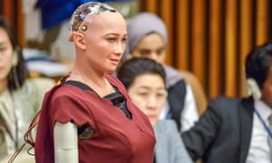 Humanoid robot 'Sophia' at United Nations, New York, US, 11 October 2017