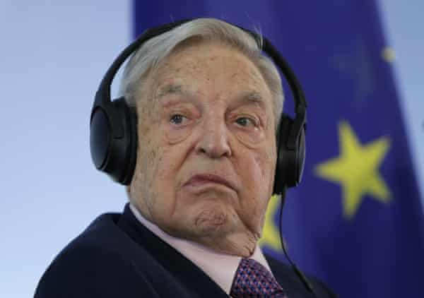 Hungarian-American investor George Soros attends a press conference at the foreign ministry in Berlin, Germany in 2017.