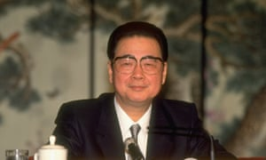 Li Peng at the 1993 session of the National People's Congress.
