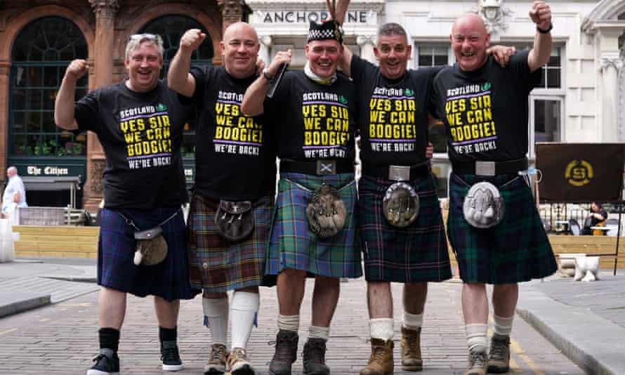 Scotland fans in Glasgow.