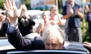 Prime Minister Johnson Speaks At Convention of the North In South YorkshireSHEFFIELD, ENGLAND - SEPTEMBER 13: Prime Minister Boris Johnson waves as he leaves Fox Valley Shopping Park on September 13, 2019 in Sheffield, England. The Convention brings together the North's political, business, community and academic leaders, along with young peoples groups, to make a unified case for tangible investment in the Northern Powerhouse. (Photo by Christopher Furlong/Getty Images)