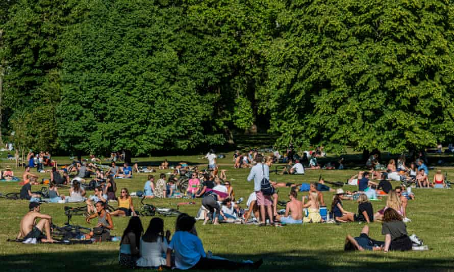 People flocked to London's St James's Park on Saturday.