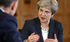 Theresa May on BBC1's Andrew Marr Show on 17 June.