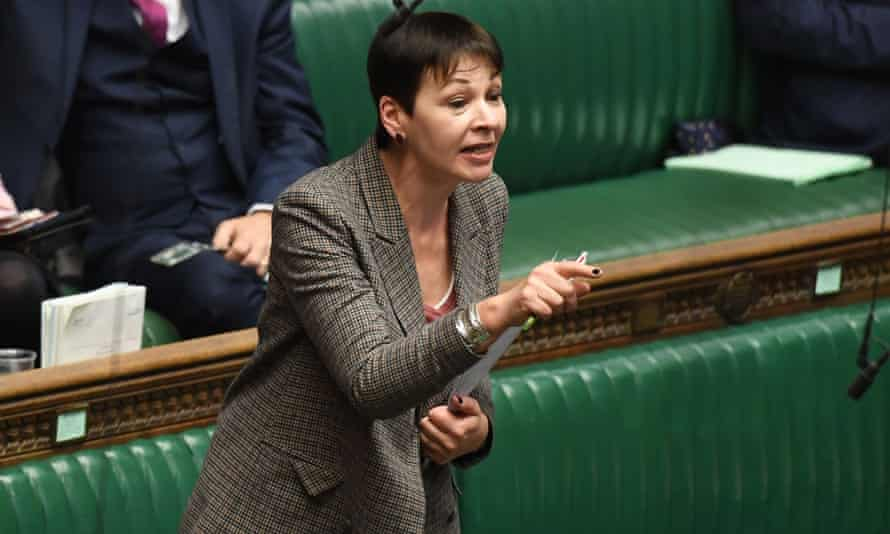 The Green MP, Caroline Lucas, said retaining investments in Shell and BP undermined MPs' credibility on the climate crisis.