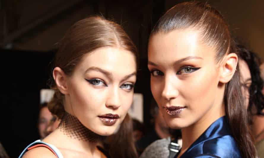 Supermodels Gigi and Bella Hadid at Milan fashion week.