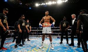 The new IBF heavyweight champion of the world, Anthony Joshua.