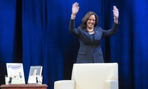 Harris launches her book tour in Washington DC last week.