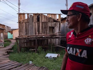 Carlos Alves Moraes, whose house was flooded for 17 days in August.