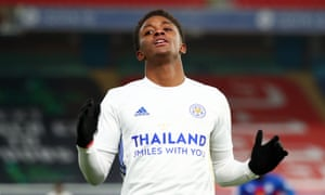 Demarai Gray in action against Crystal Palace this season. He has played only 18 minutes of league football in 2020-21.