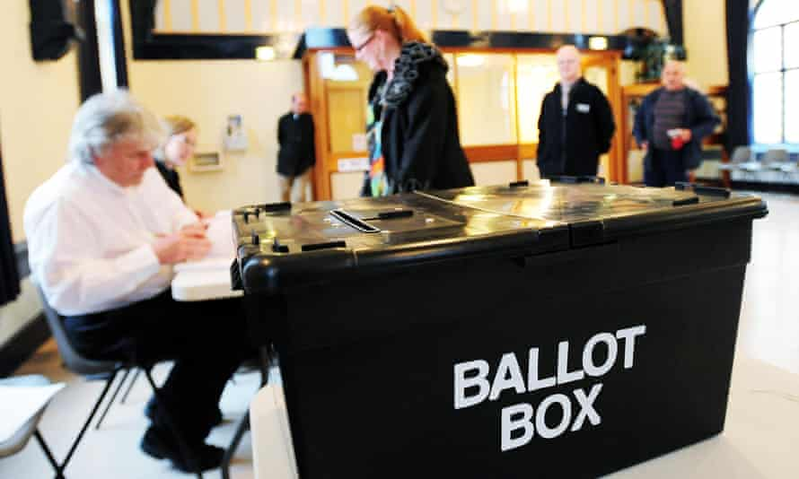 Voters go to poll in Swadlincote, Derbyshire, in the 2010 general election