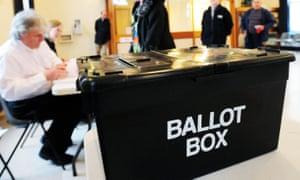 A ballot box.