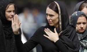 New Zealand prime minister Jacinda Ardern leaves Friday prayers in Christchurch on Friday.