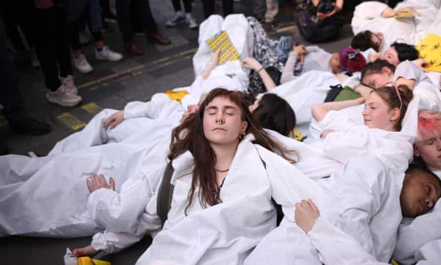 XR Youth protesters in London.