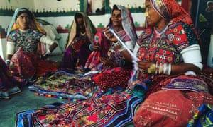 Women  at Kala Raksha textiles co-operative, Gujarat