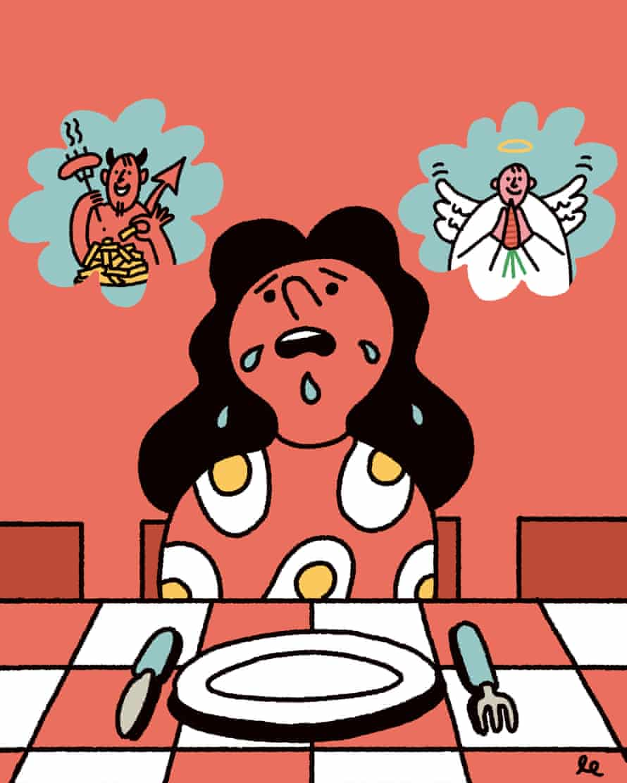 Clean eating illustration