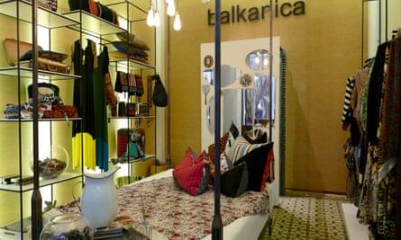 Interior of design store Balkanica, Callao.