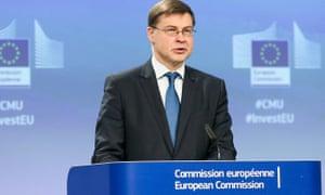Valdis Dombrovskis, a European commission vice-president