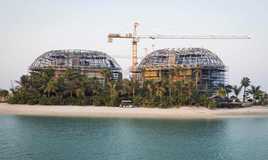 Construction continues at Sweden Island, part of the Heart of Europe, a cluster of six islands on The World in Dubai.