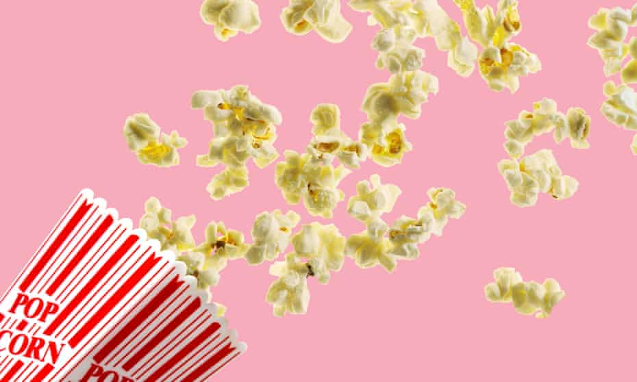 Once you pop … Americans consume 14bn quarts of popped popcorn annually, according to the Popcorn Board.