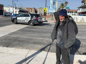 Rick Russel, 56, has lived in Las Vegas's alleys and lots for 11 years.