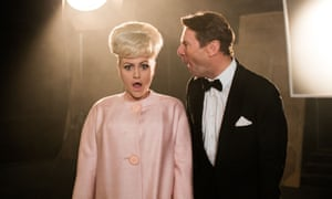Jaime Winstone as Barbara Windsor and Robin Sebastian as Kenneth Williams in Babs.