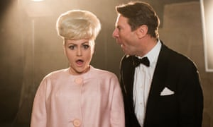 Jaime Winstone as Barbara Windsor and Robin Sebastian as Kenneth Williams