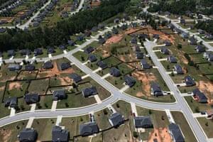 Suburban Atlanta … a sprawling city according to Demographia and Smart Growth America.