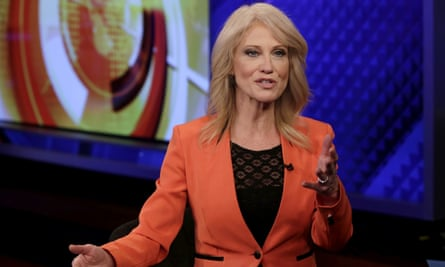 Kellyanne Conway is interviewed on the Fox News Channel in New York Friday.