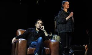 Ben Chaplin as Bernard and Seana Kerslake in Mood Music at the Old Vic.