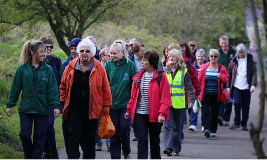 Hikers enjoying Redcar and Cleveland walking festival