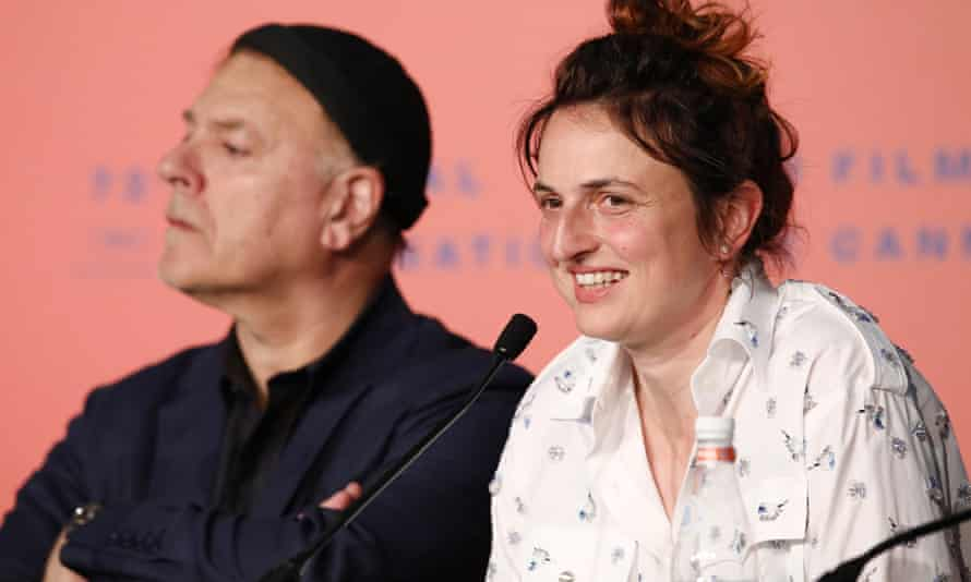 Alice Rohrwacher speaks during the jury press conference at Cannes on Tuesday.