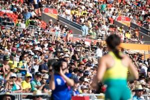 The women's T38 long jump finals at Carrara Stadium on the Gold Coast