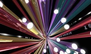 High speed broadband fibreoptics illustration.