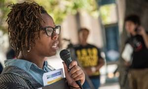 Patrisse Khan-Cullors, a co-founder of Black Lives Matter.