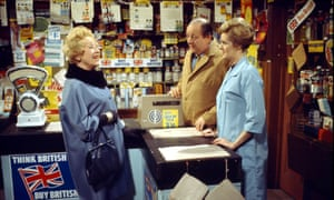 Irene Sutcliffe, right, as Maggie Clegg, with John Sharp playing Les, her screen husband, and Doris Speed as Annie Walker in an early 1970s episode of Coronation Street.