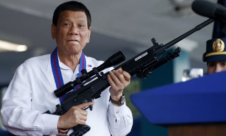 Killing spree ... Duterte said children caught in the crossfire of his war on drugs were 'collateral damage'.