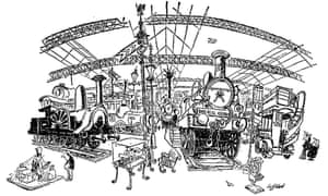 Cartoon on the closure of London's British Transport Museum, 3 May 1969.