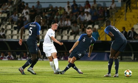 Phil Foden opens the scoring for England after waltzing through the France defence.