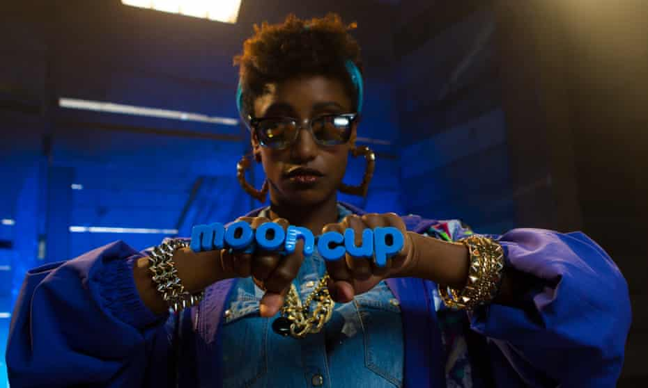 An image from the Tampax v Mooncup rap battle advertising campaign