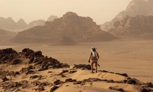 Matt Damon in the film The Martian