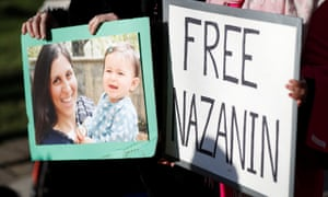 Demonstrators in support of Nazanin Zaghari-Ratcliffe