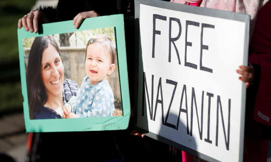 Demonstrators in support of Nazanin Zaghari-Ratcliffe