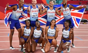 Two sets of British 4x100m silver medalists.