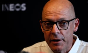 Dave Brailsford speaking at a press conference