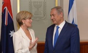 Julie Bishop and Benjamin Netanyahu