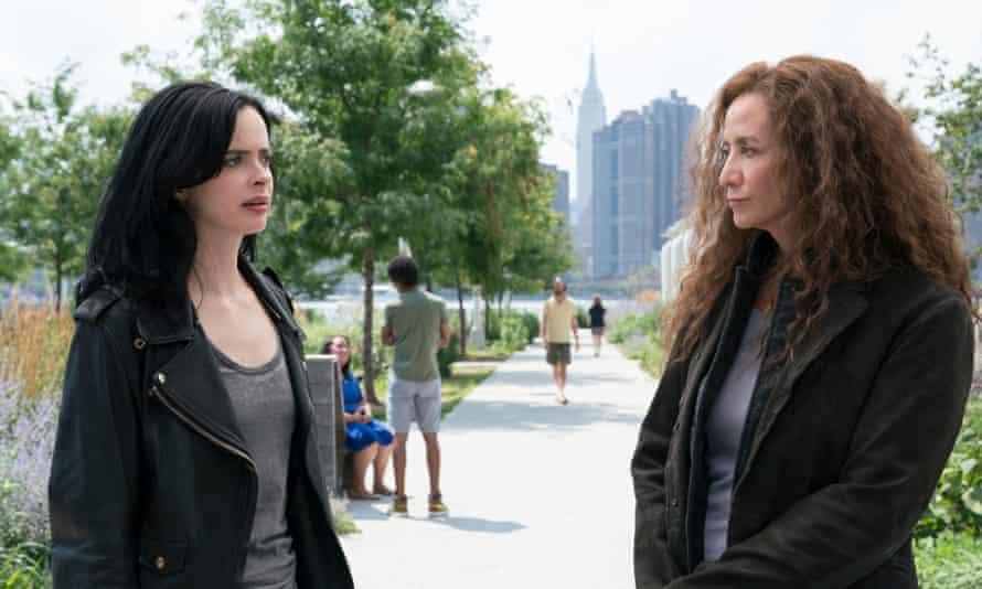 Krysten Ritter and Janet McTeer in Jessica Jones, season two.
